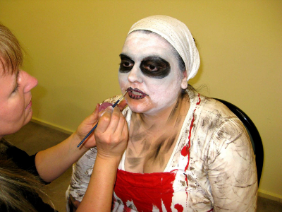 August 8 to 10 National Club Convention and our Zombie Walk workshops are a real highlight. Ilona's transformation of Eve is looking cool!