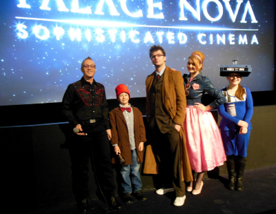August 24 - As part of our Dr Who event at The Palace East End Cinema, we conducted a costume contest and pictured here with Starship Mawson President - Stu Blair are our four contest winners!