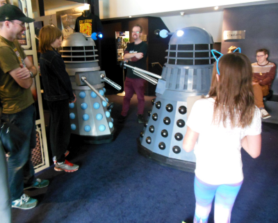 August 24 2014 - Our Dr Who event at The Palace East End Cinema was a complete success with large attendances of fans at both of our film screenings and fans could also enjoy our sci fi expo complete with Daleks and K9!