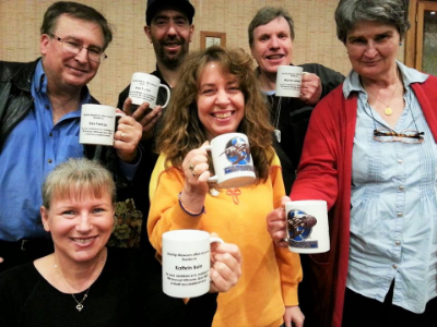 A special tribute to our Quiz Night Crew with each member receiving a personalised Mawson mug as a memento for their fantastic effort in making our 9th annual event a complete success.