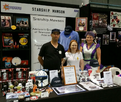 Nov 20-22, A most successful weekend of marketing and promotion for us at Supanova Pop Culture Expo in Adelaide. Much Mawson merchandise and subscriptions were sold and special thanks to our expo team, Rob, Kathrin and Ilona for operating a most professional looking expo stand!