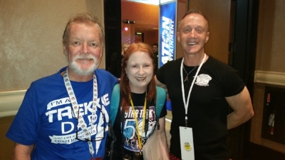 Mawson Crew at 50th anniversary of Star Trek Convention Las Vegas - Ian, Kathrin and Stu and what a fantastic convention it was!
