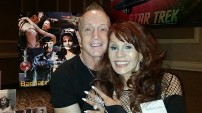 Starship Mawson Event Director - Stu Blair with Actress Barbara Luna from Star Trek, Zorro, High Chaparral at the 50th Anniversary of Star Trek Convention in Las Vegas - August 2016!