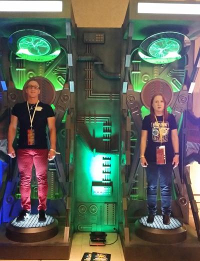 Time for Stu and Kathrin to regenerate during Star Trek Las Vegas!