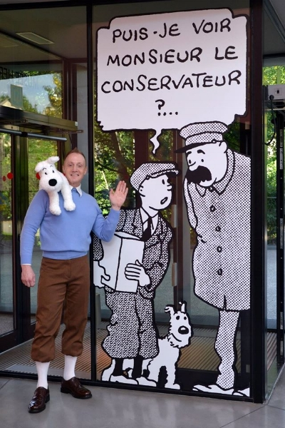 After a most enjoyable time in London we were off to Belgium to visit the Tintin Museum and International Comic Book Museum in Brussels and here is Stu as Tintin inside the Tintin Museum!