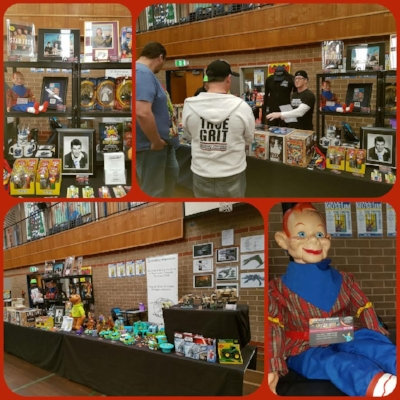 October 8 - We had a fantastic promotion at The Adelaide Comic Convention and Toy Fair. Our aim today was to actively promote and market Starship Mawson to the visiting public and trading dealers.