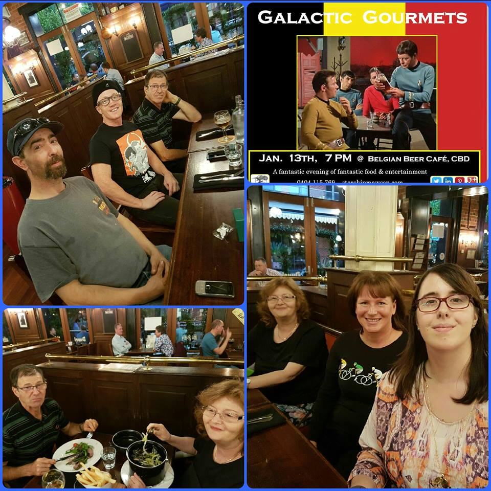 Jan 13 Foodies meet-up for Starship Mawson's Galactic Gourmets was a real hoot. Adelaide was really jumping tonight and what a great meet-up we had at the Belgian Beer Café!