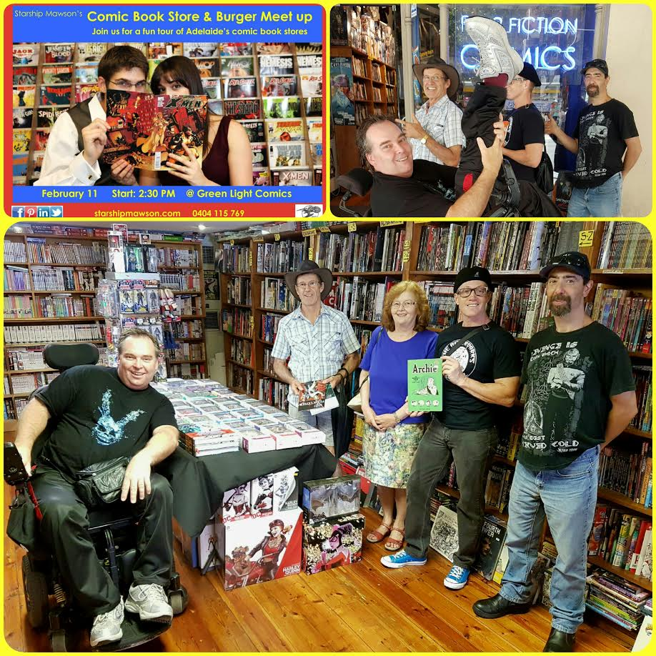 Our second stop on the tour was inside Pulp Fiction Comics!