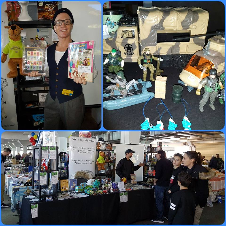 June 2 and 3 expo stand at The Mega Toy Fair in Adelaide was a most successful weekend of marketing and sales for us.  The collectable fair is the largest in Australia, with sellers and collectors travelling from around the country to attend the weekend event!