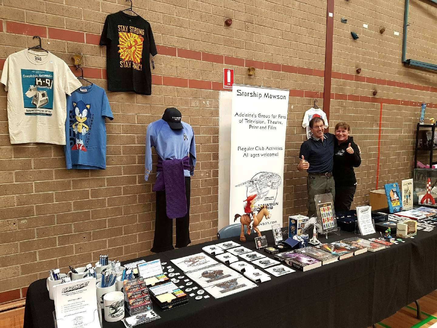October 2: Starship Mawson Expo Crew, Ilona and Michael all set for another great event of marketing and promotion of Starship Mawson at the Adelaide Comic Con!
