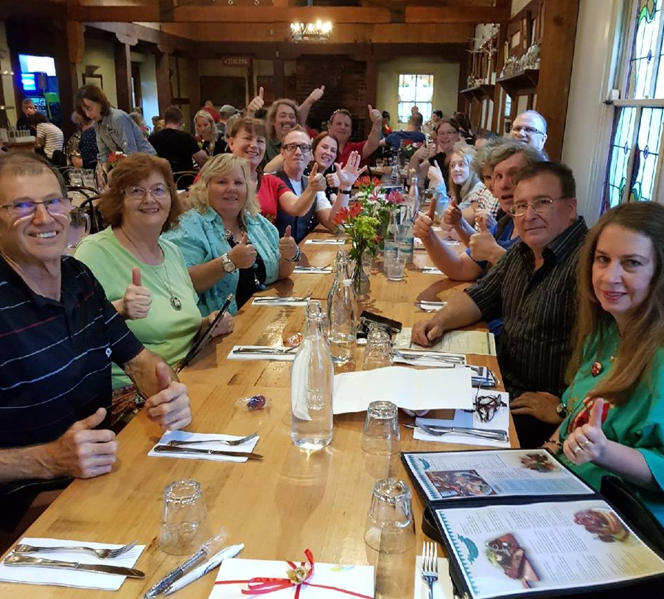 December 16: A fantastic attendance for our annual Christmas Dinner...  We enjoyed a tasty repas inside The Hahndorf Inn located in the city of Hahndorf in the Adelaide Hills.