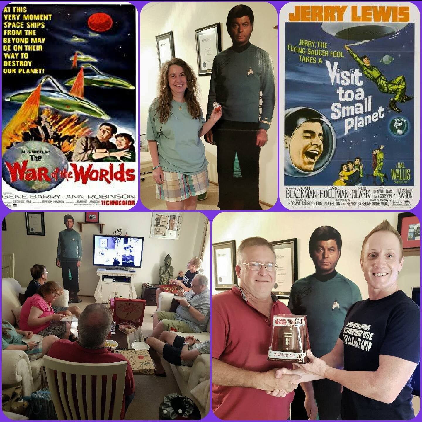 Jan 27: Our annual B Grade Sci Fi Film Night was a hoot!  We enjoyed a great double feature with a couple of lucky crew winning some fantastic chocolate Star Wars goodies during the event!