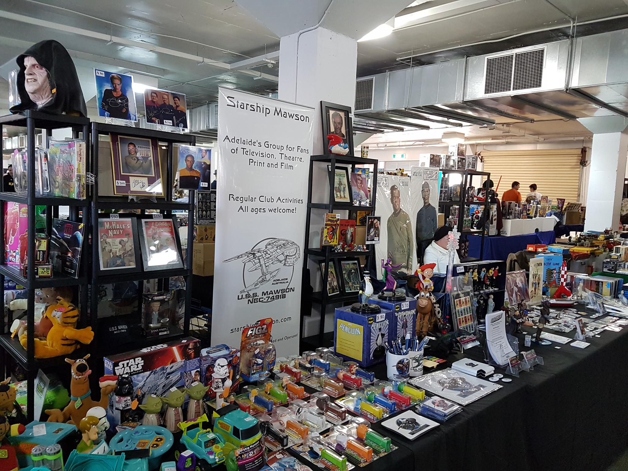 June 2 and 3 - We had a most successful weekend of sales and promotion at the Mega Toy and Collectable Fair at the Adelaide Showgrounds. The weekend long event attracts collectors and dealers from all over Australia!