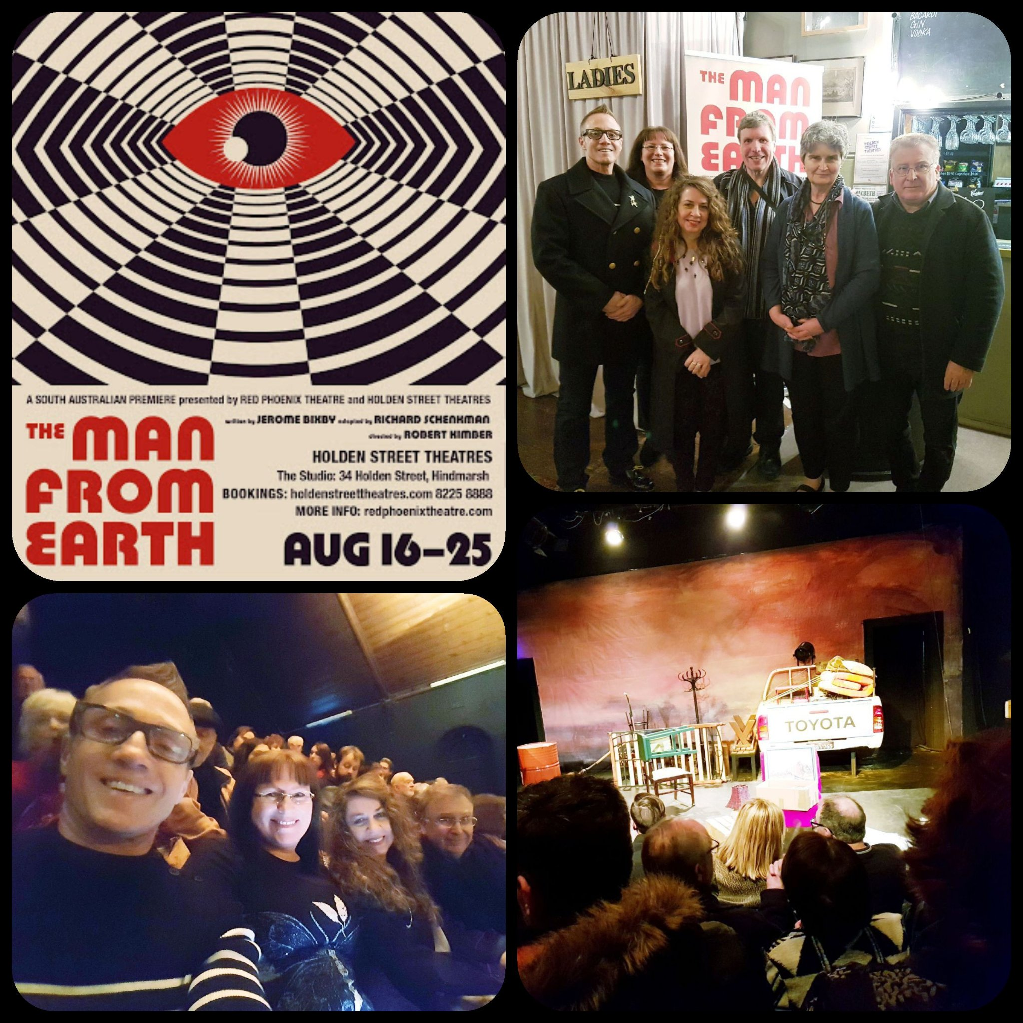 We had a fantastic evening at the opening night of the classic sci fi theatre production of The Man From Earth at the Holden St Theatre on August 16.  A must see!
