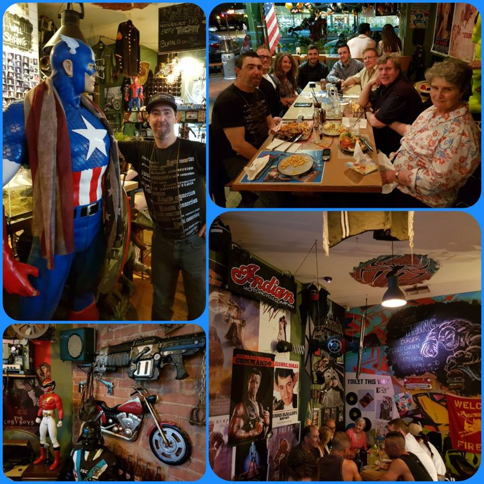 October 13: Our foodies event at the Chuck Wagon Pop Culture themed restaurant in North Adelaide marked a special celebration of member; Rob in celebrating his birthday.