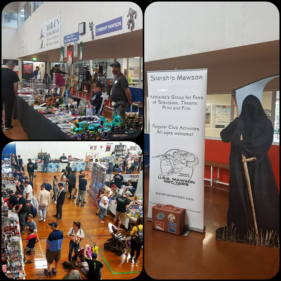 April 14: We enjoyed a most successful day of sales, marketing, and promotion at the Adelaide Comic Con and Toy Fair. Industry events are a great platform to communicate with the greater community and enhance our awareness to fellow industry professionals.