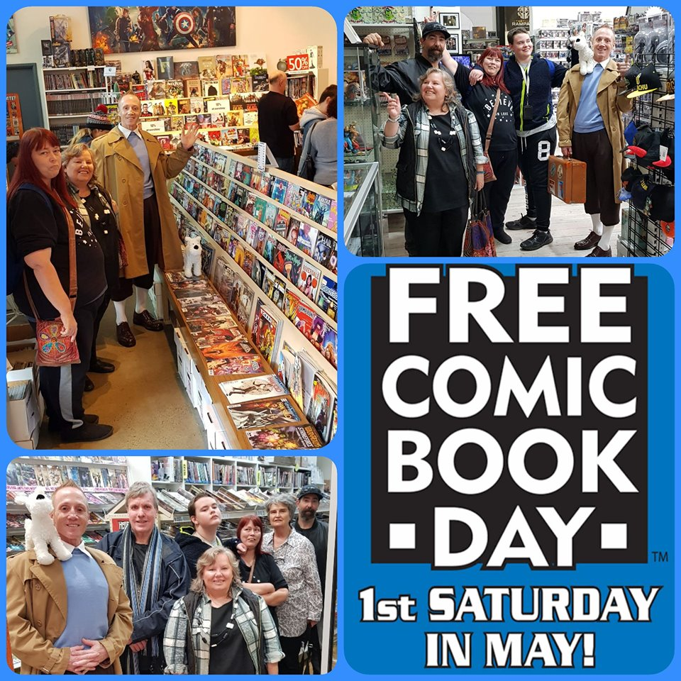 Free Comic Book Day meetup - May 4, 2019. What a fantastic time was had by all of our pop culture enthusiasts during our annual tour of Adelaide's comic book stores to celebrate Free Comic Book Day!