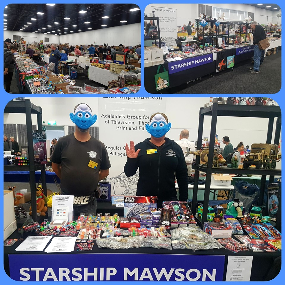 June 1 and 2 at the Mega Toy and Rare Collectible Fair, Adelaide Showgrounds.  Australia's largest collectible fair is held annually in Adelaide, and we had a most successful weekend of marketing our organisation to the greater Adelaide Community!