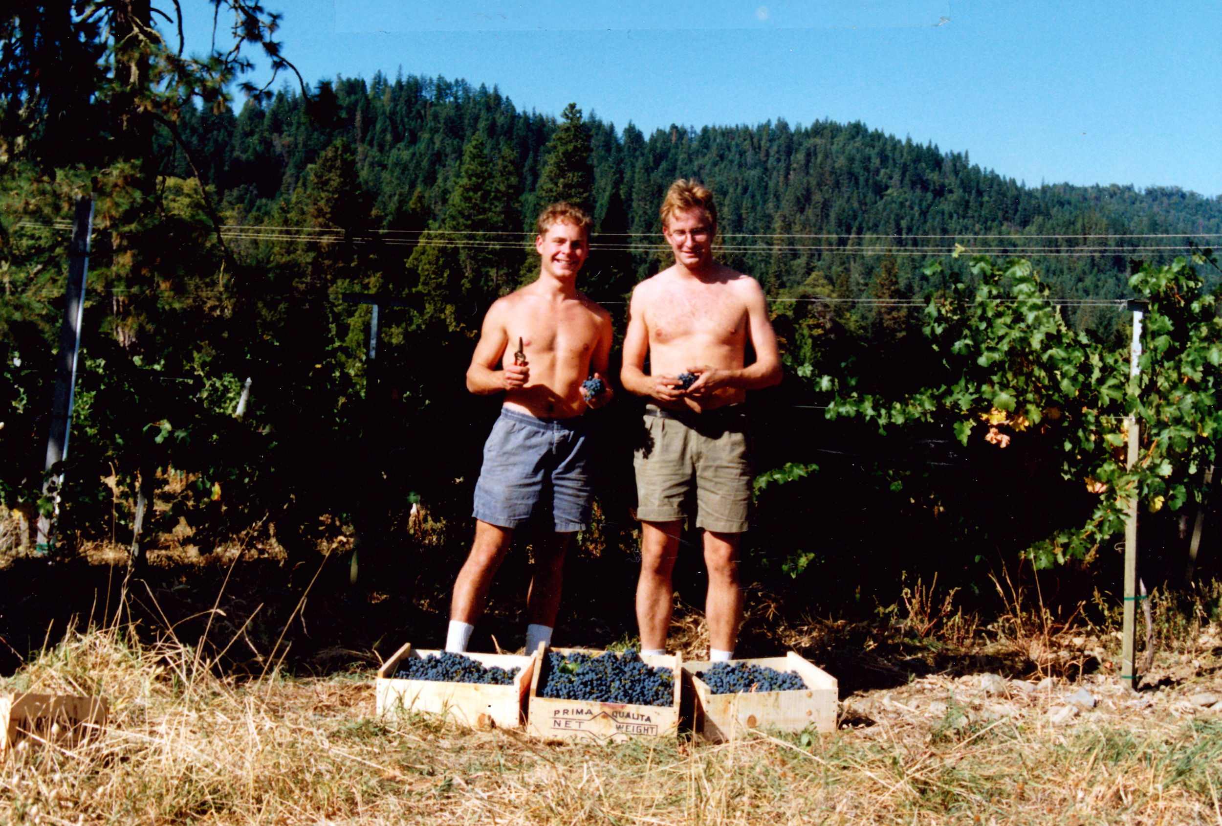 Andrew Tietzen and Tom- October 1991 ,Cave Junction, OR