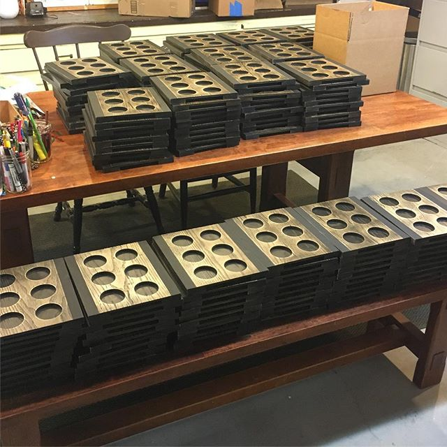 Boxing up the last of this order of 400 trays.