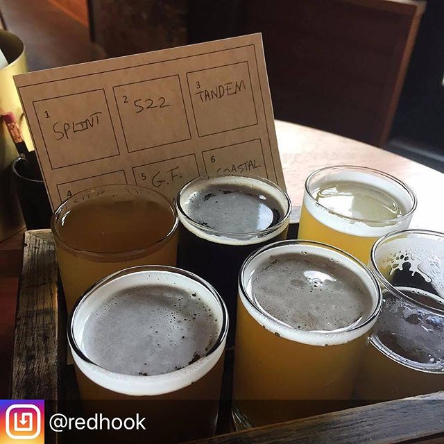 Repost of the tasting trays we made for @redhook