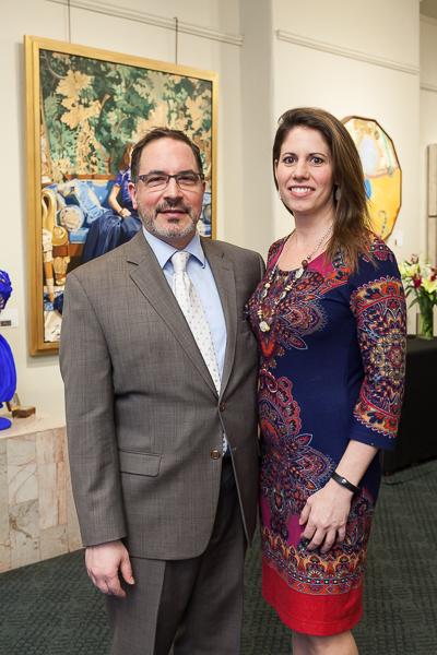 Gallery President Richard Bainao and VP Stephanie Bond