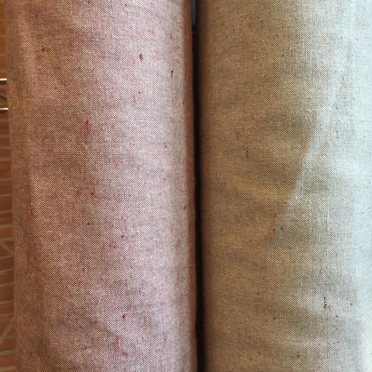 Slubs and colored flecks throughout give these fabrics beautiful texture and color variation.