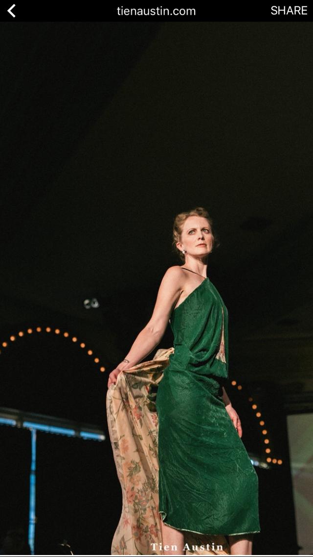 Bolt's own Sarah, rockin' her design in the 2017 MSP fashion show. Photo credit: Tien Austin