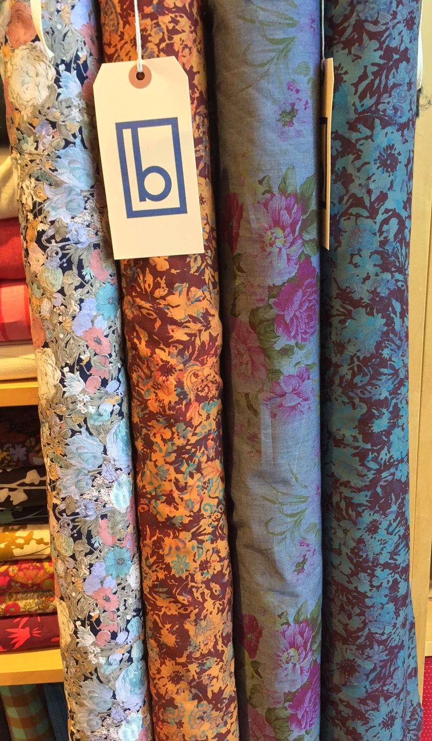 Pretty, pretty floral cotton prints, a vintage rose print on chambray!