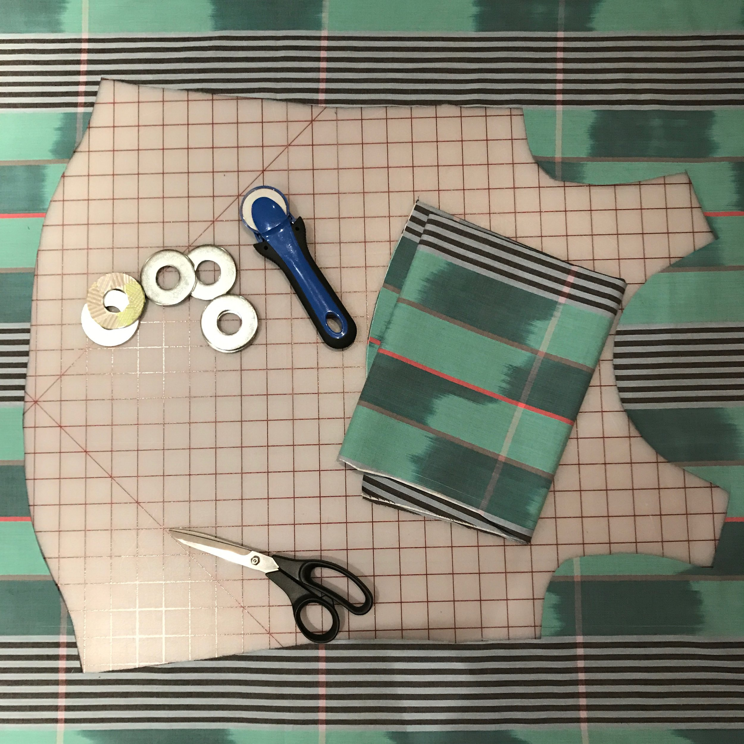 By laying out pattern pieces on a single layer of fabric I could dial in the striped symmetry.