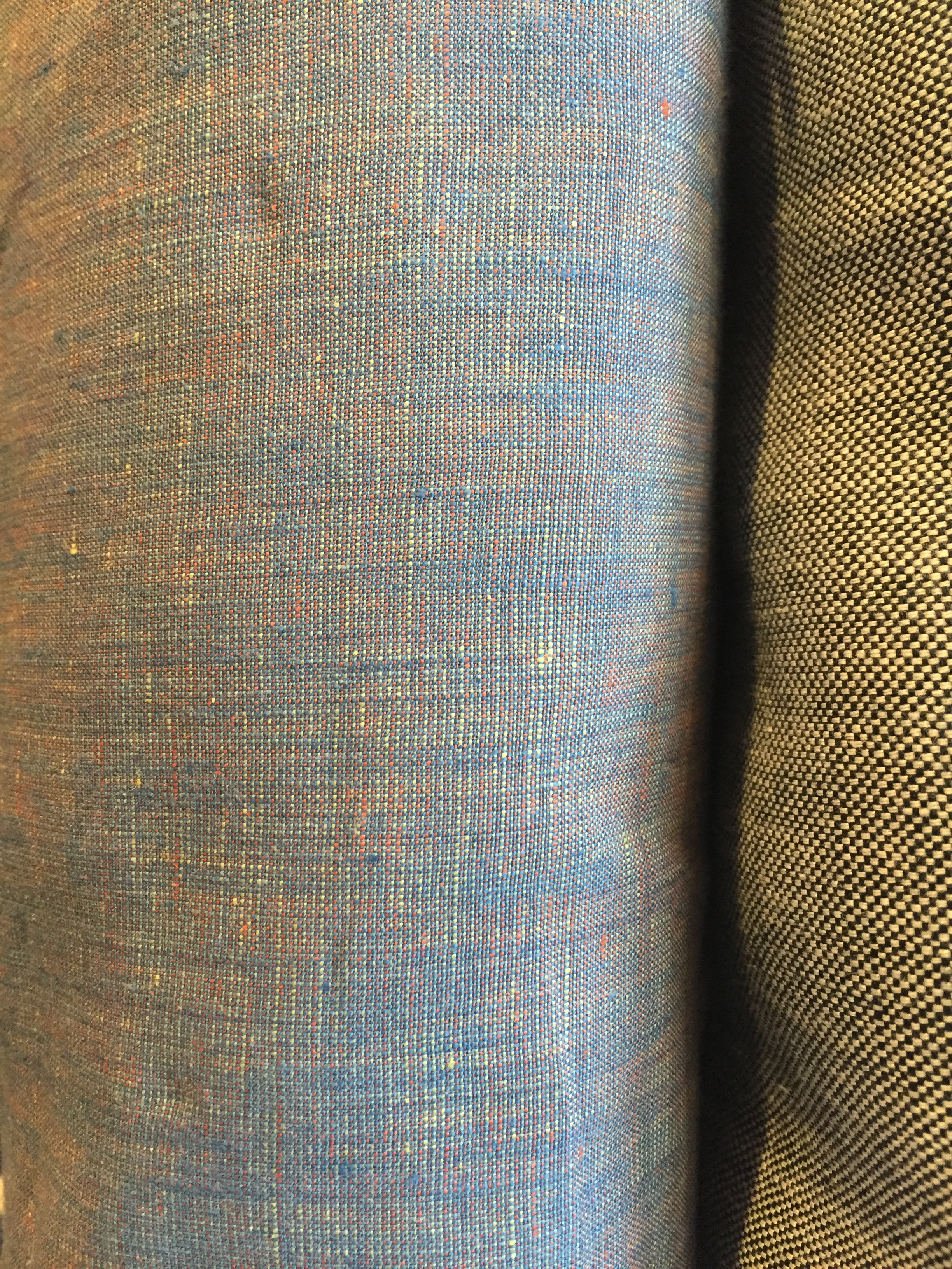 This multi-colored linen deserves a close up!