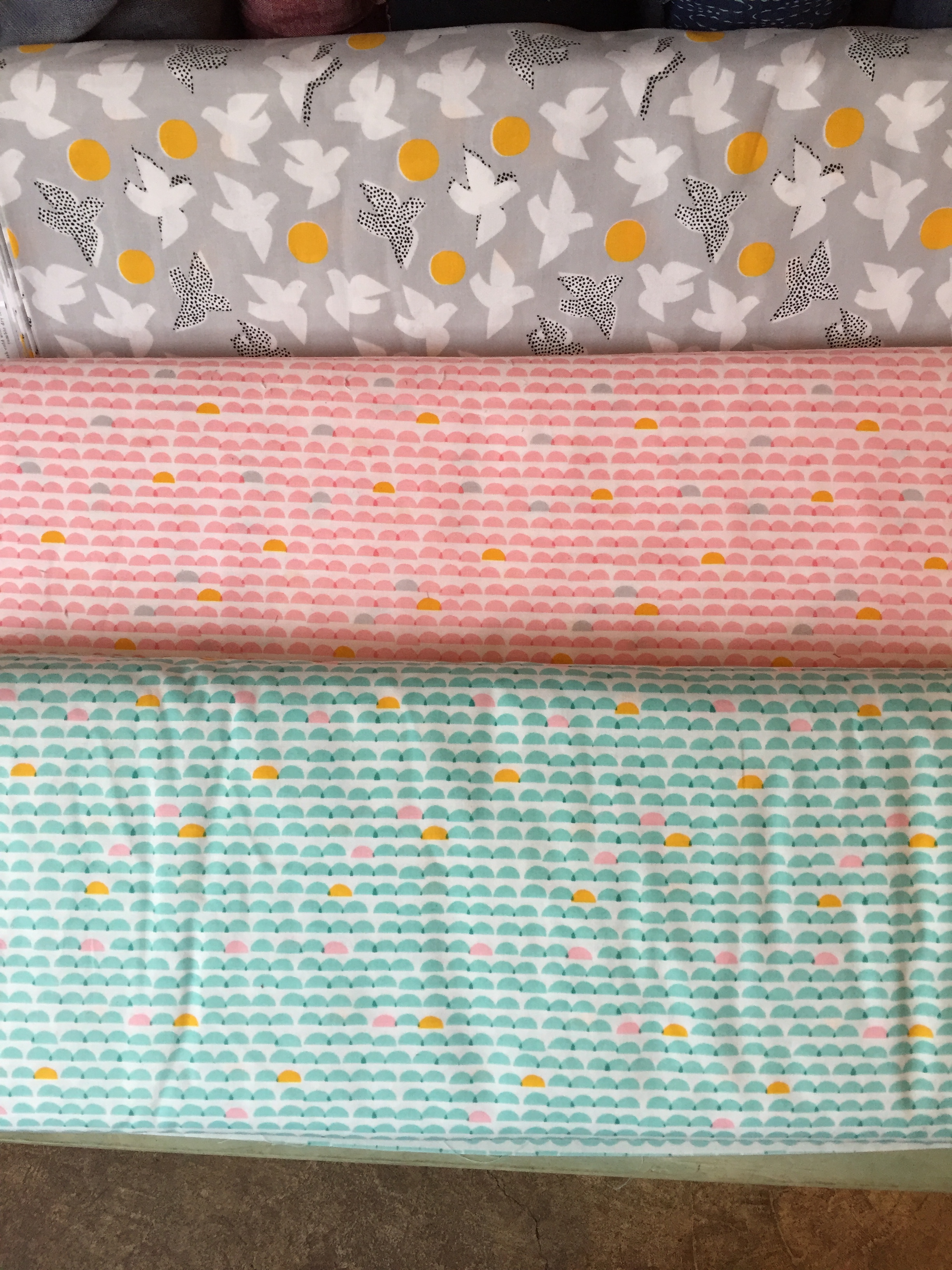 Pretty, pretty organic cotton prints. Perfect for decking out a nursery.