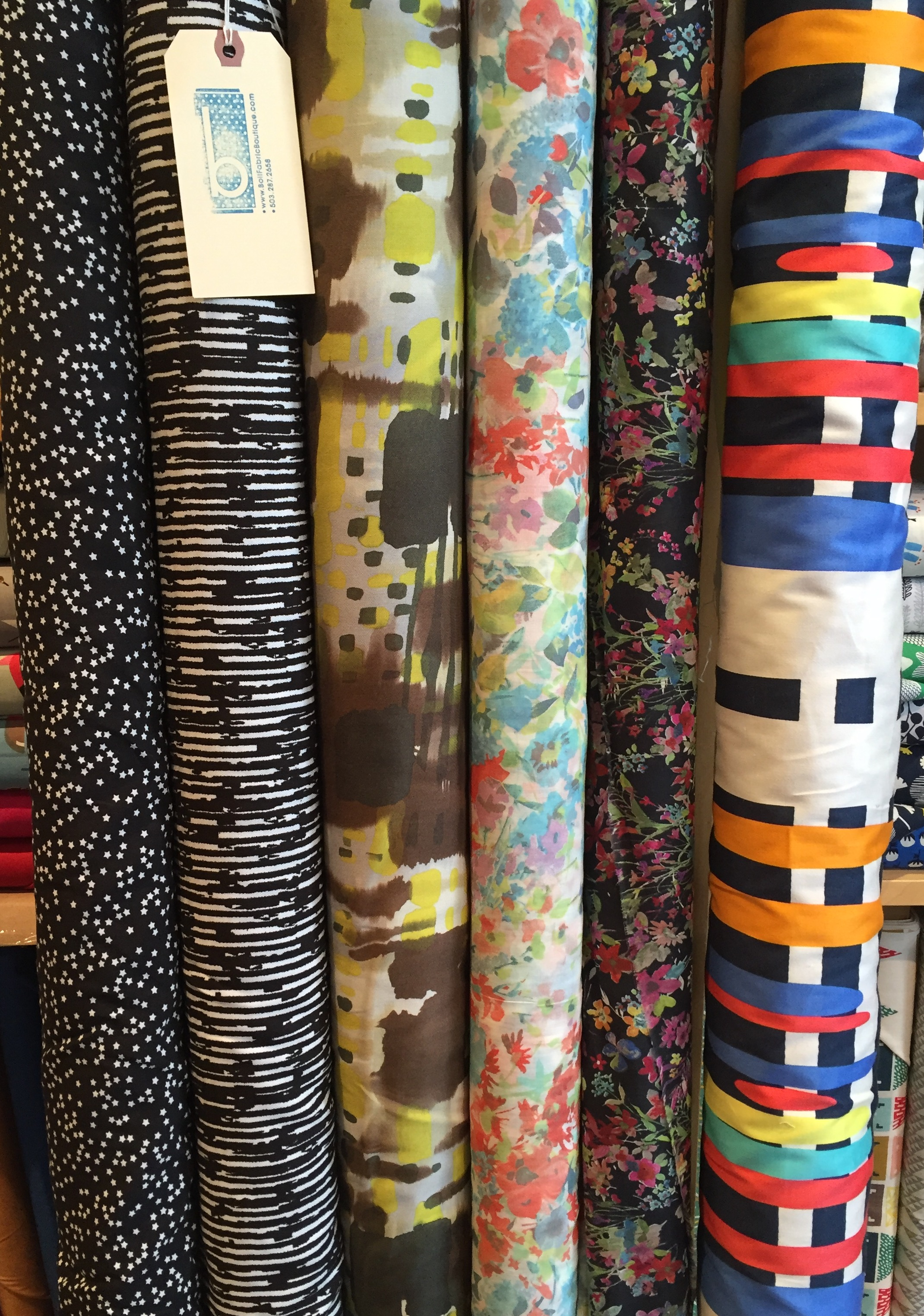 rayon and cotton apparel goods. Oh so lovely!