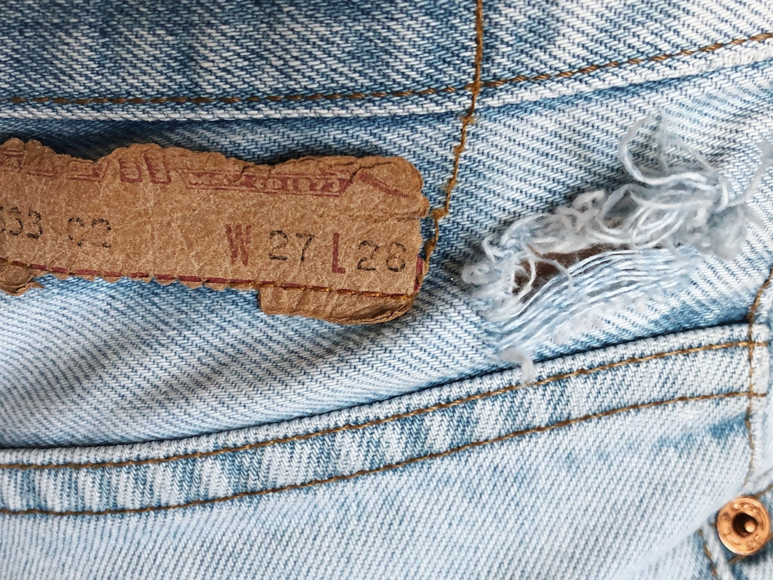 These jeans can be mended! Come learn how!