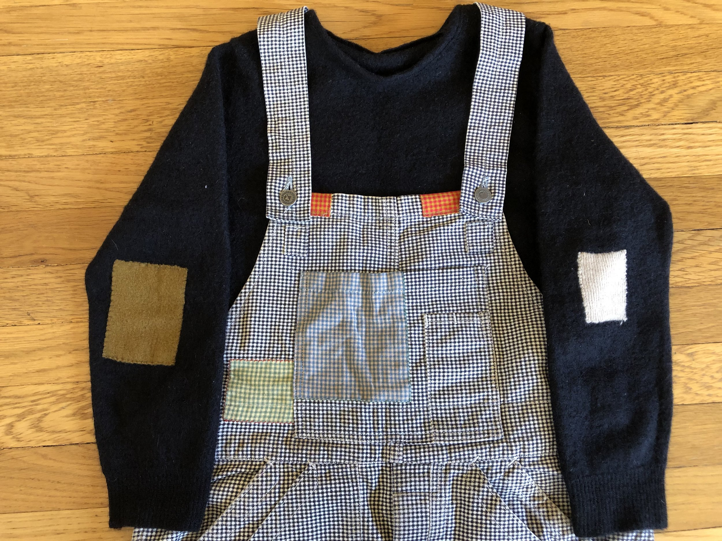 How cute are these mended overalls!?