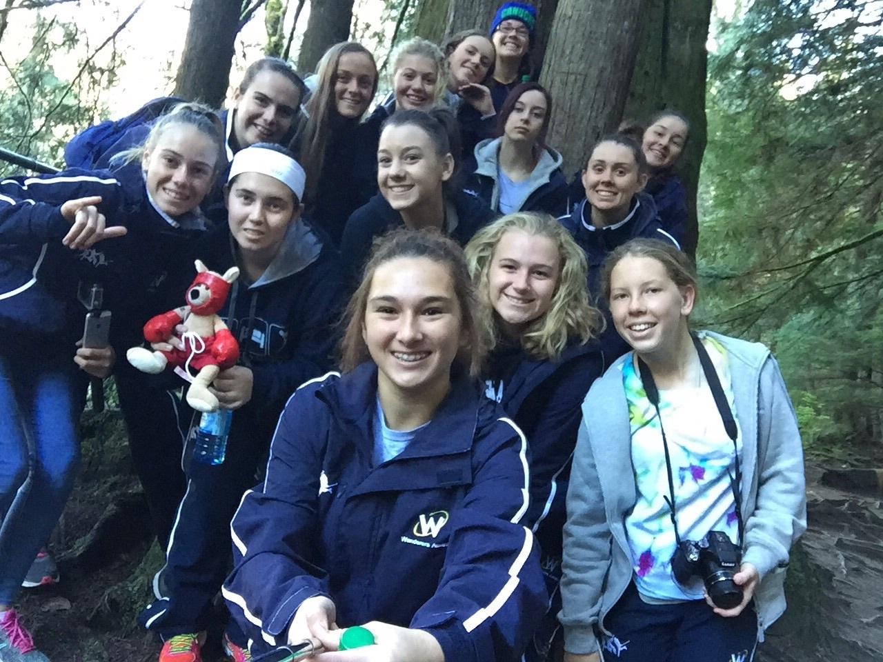 Team selfie at Lynn canyon