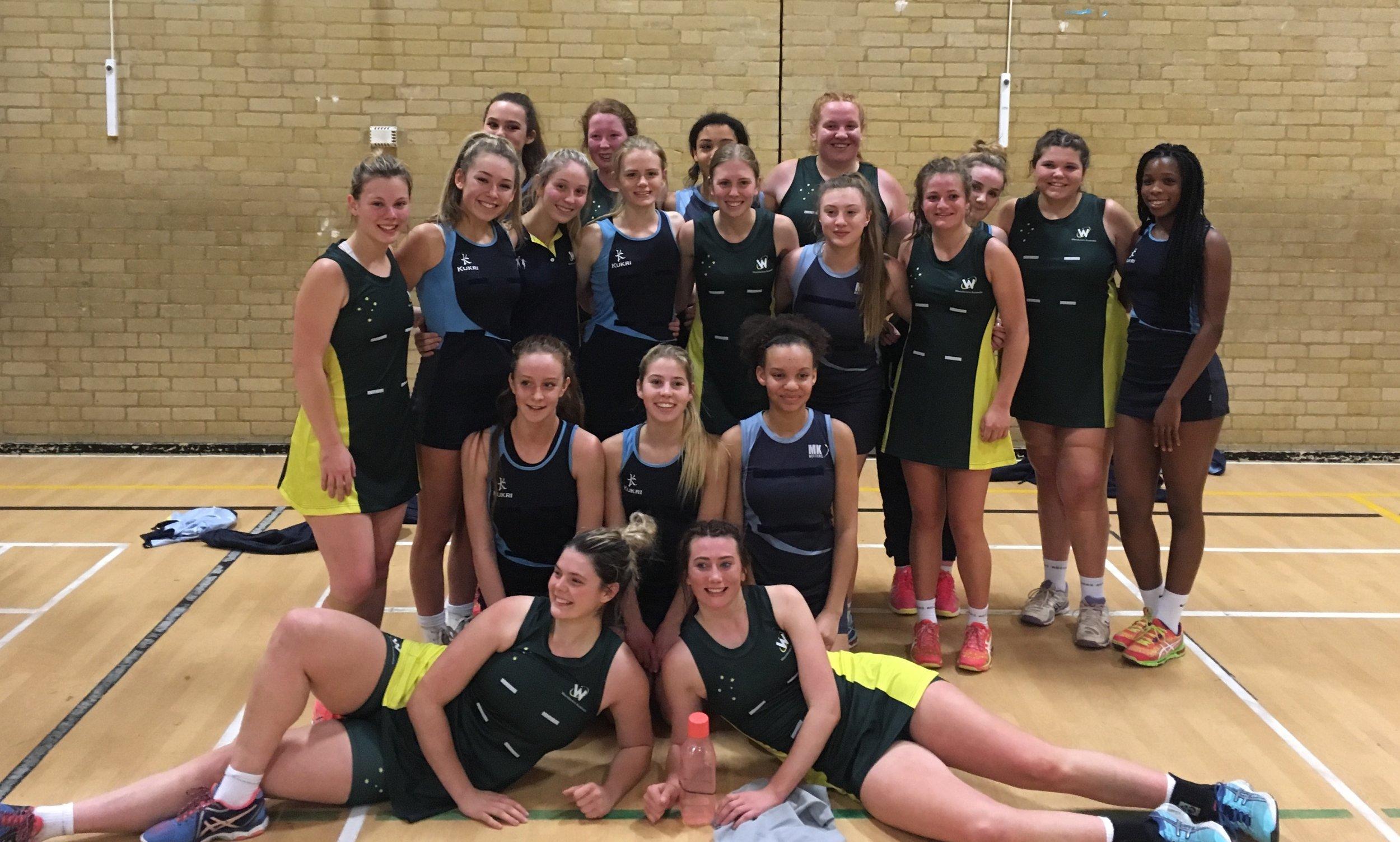 18&U girls with Milton Keynes Netters NC
