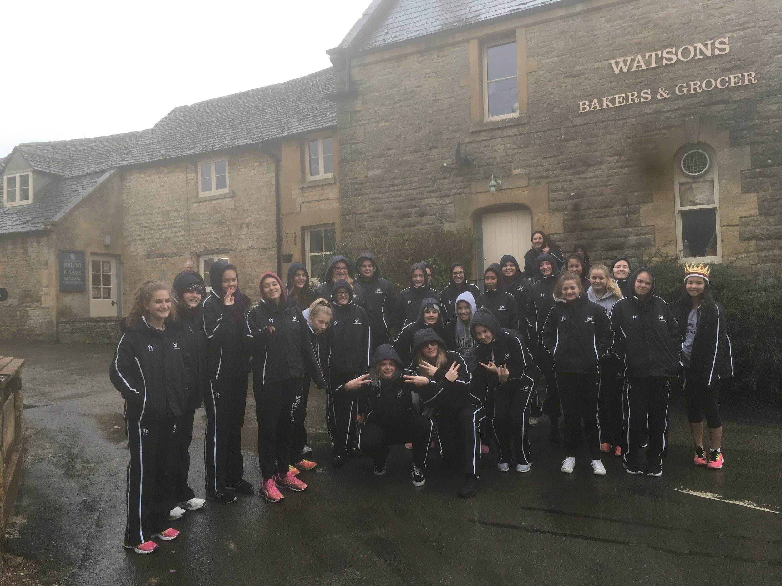 Braving the wet and chilly conditions on Day 5