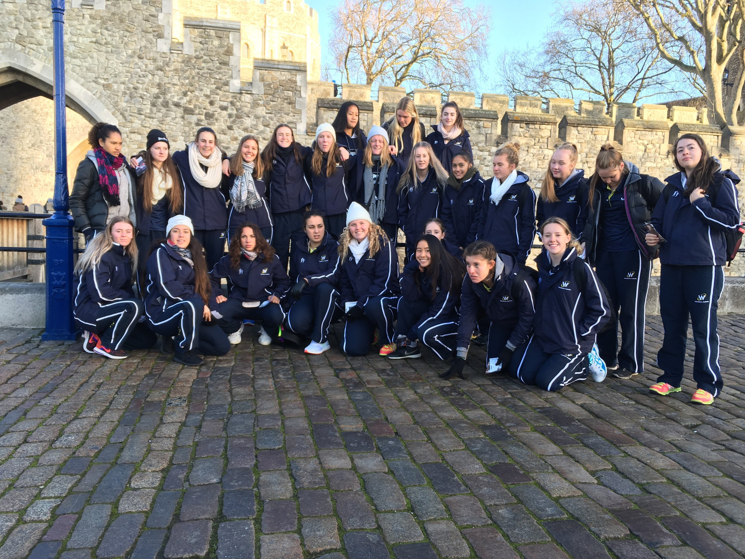 Just before we entered the Tower of London