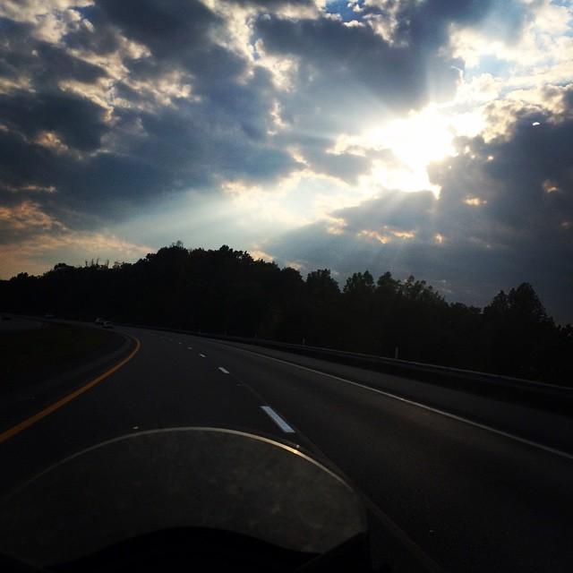 Good Frickin Morning! #motorbike #ride #clouds