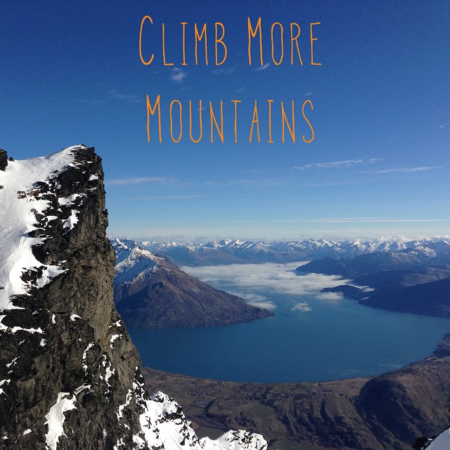 I snapped this last year when I was up in the New Zealand mountains. #adventure #climb #NZ #fun #amazing #iphoneonly #sky