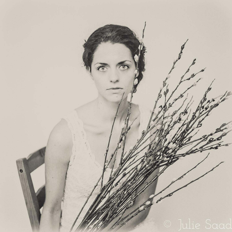 vintage bridal photo