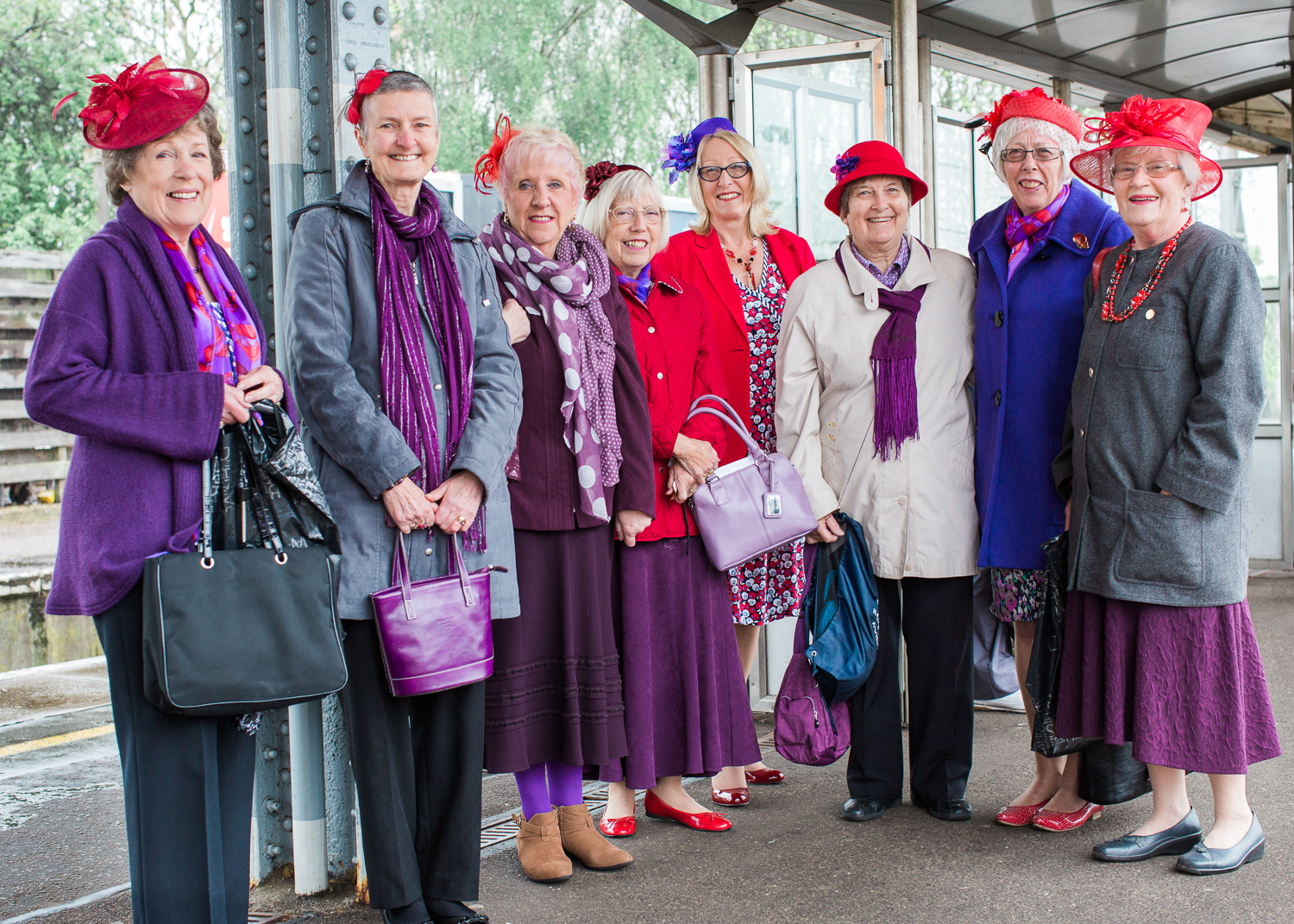 Members of the Red Hat Society
