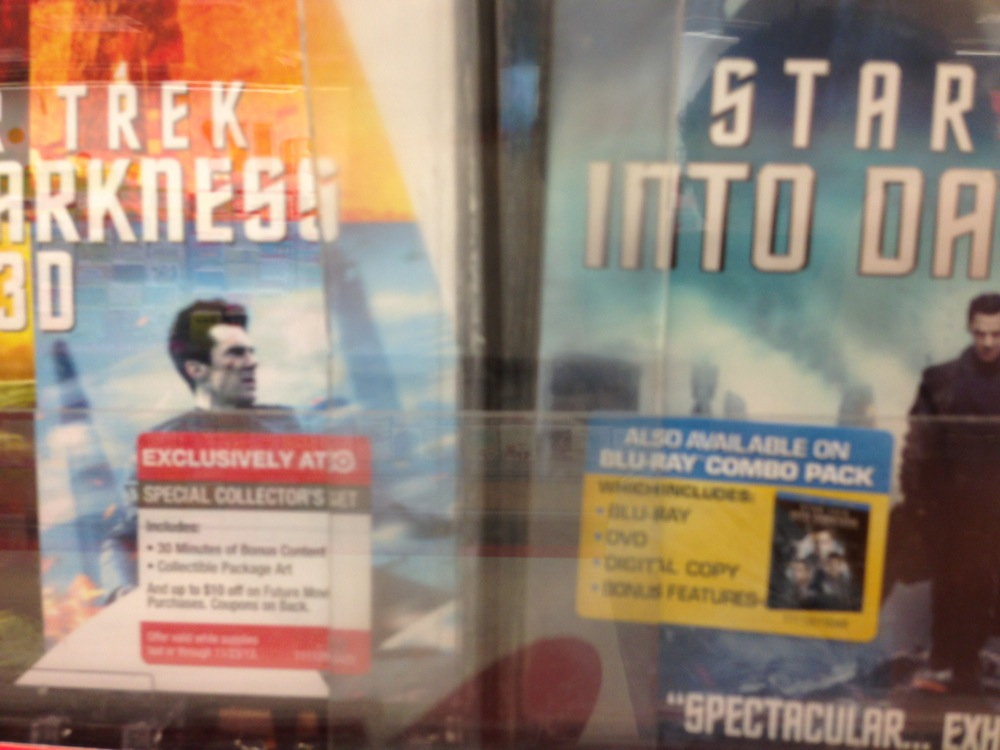 """if one misses the word """"which"""" on the DVD sticker (right), they might buy, take home, and open the wrong thing"""