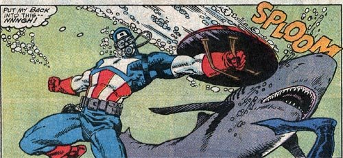 Giant Size does not support Captain America's troubling obsession with shark-punching.