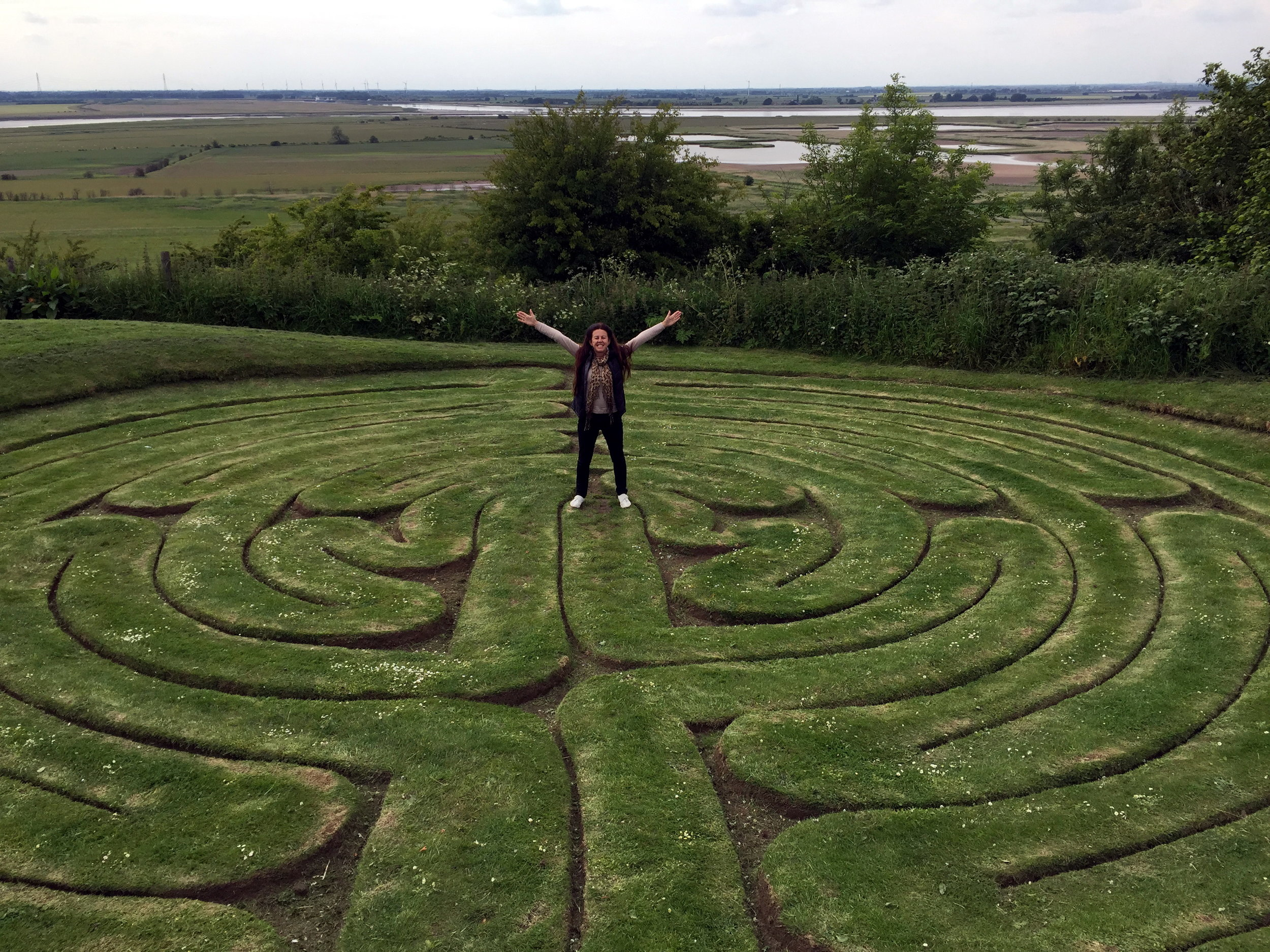 turf maze, UK maintained by villiagers for centuries.