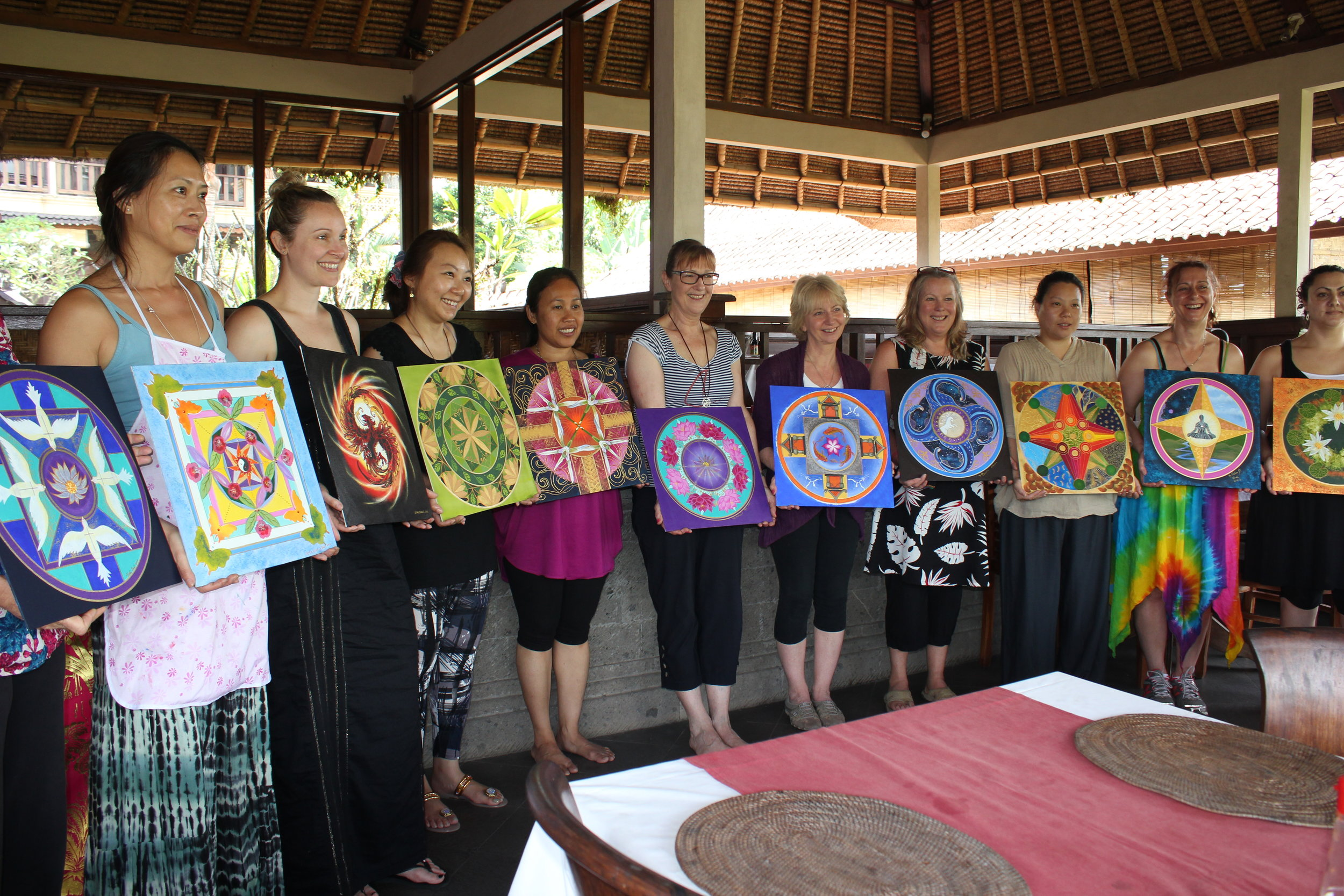 Bliss is making mandalas in Bali - Creating in the perfect environment is nurturing, healing, and deeply satisfying.