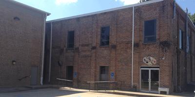 Shackleford Academic Building. Ms. Jones' art studio is through the door on the right.