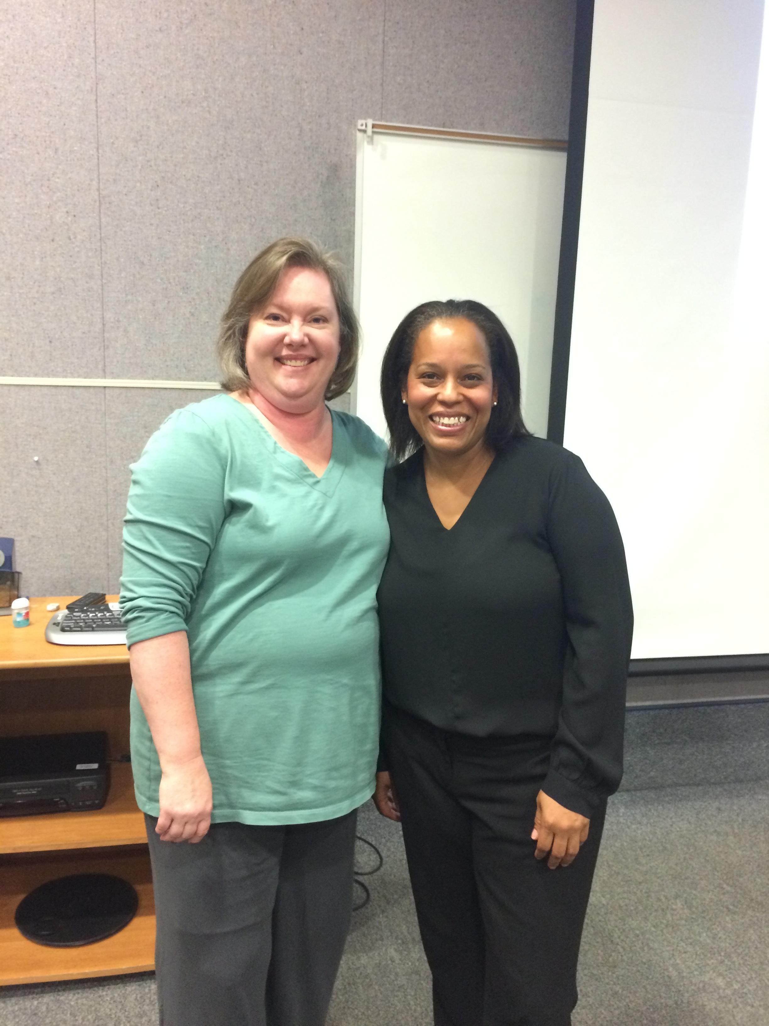 Foreign Language instructor Lori Pierce and US Foreign Service Diplomat Kali Jones.