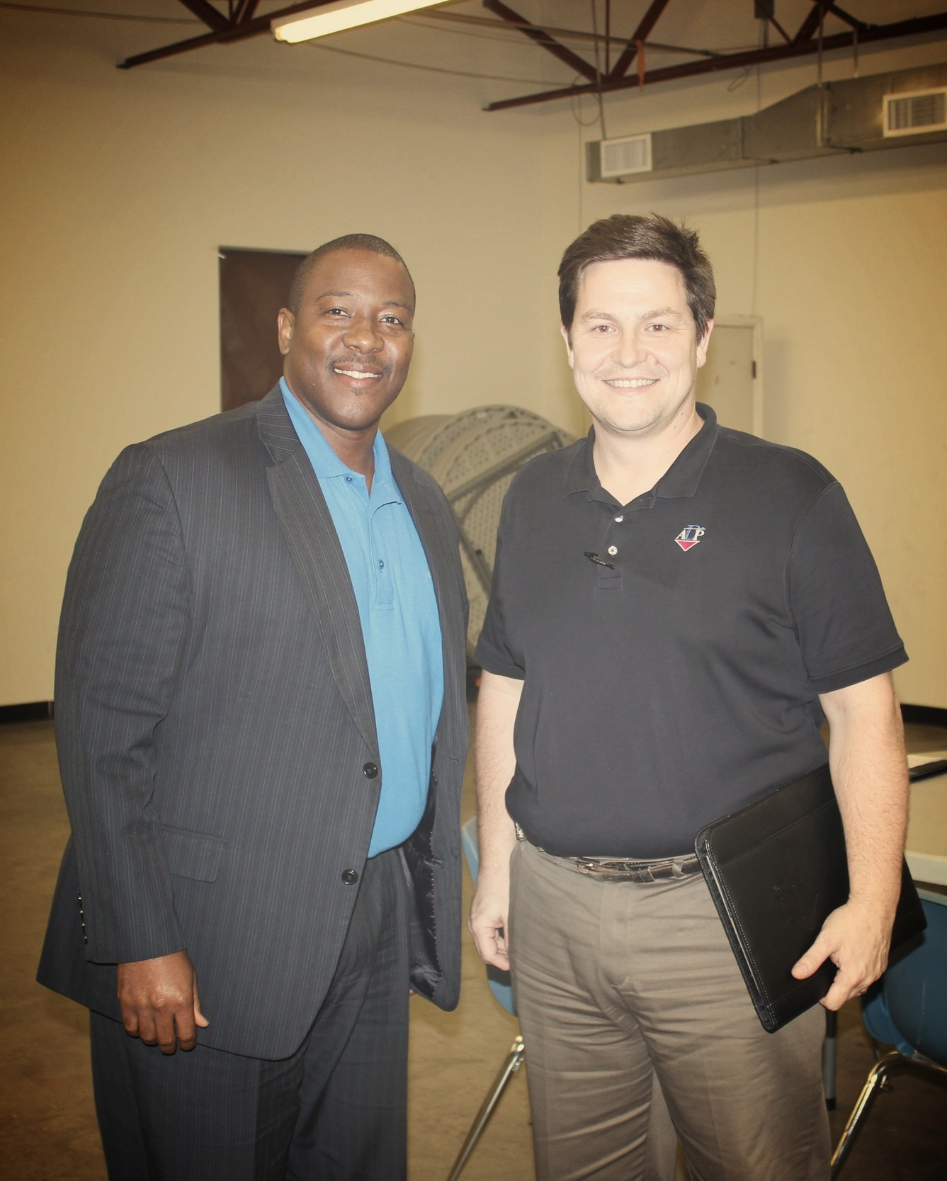 MSMS Executive Director Dr. Germain McConnell and ADP Production Manager James Pettit.